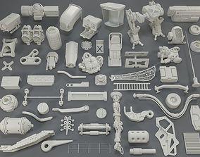 Kit bash - 55 pieces - collection-11 3D mechanical