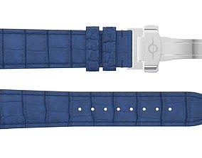 Strap watch Reptile blue PBR 3D asset