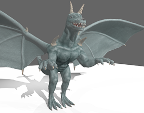 DRAGON 3D model castle