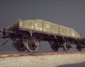 3D model Armored Train JDP20TU railway platform