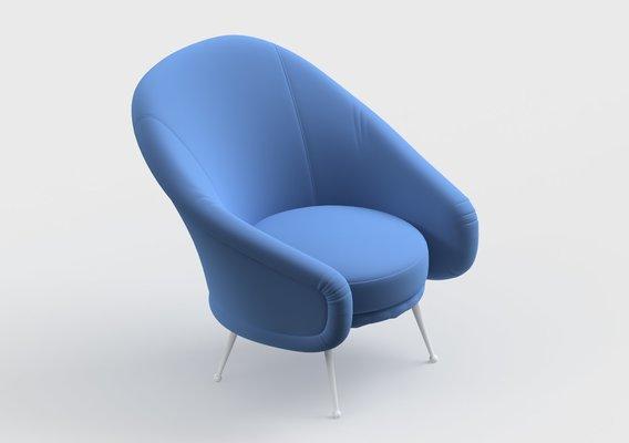 armchair modern 43 3D model