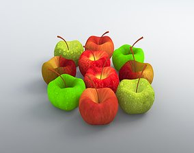 Apple Model with FFD - 3x3x3 modifier ffd 3D
