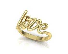 Love Inscription Women ring printable 3dmodel