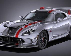 LowPoly Dodge Viper ACR 2016 3D model