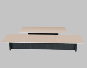 3D asset Boardroom Tables Low-Poly