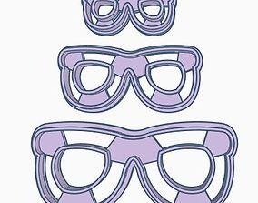 Glasses V1 Cookie Cutter Set 3D print model