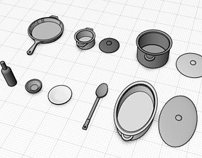3D print model Dishes and pots