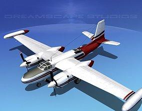 3D Douglas B-26 Marketeer V05