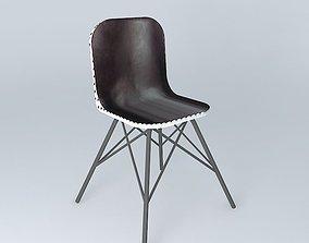 Black chair AUSTERLITZ Maisons du monde 3D model