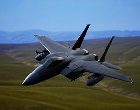 Jet Fighter F-15c Eagle 3D asset animated