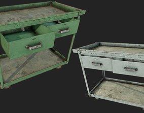 Rusty Push Cart PBR 3D model