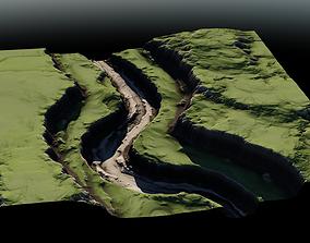 3D model Plateau River 01