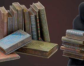 Old Books 3D model game-ready
