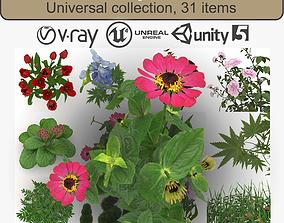 Low Poly Plants 3D model