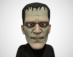 Cartoon Frankenstein rigged animated low poly 3D model