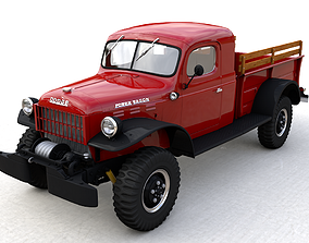 3D model DODGE POWER WAGON X-CAB 1946