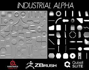 Industrial Alpha Zbrush 3D