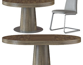 3D GRANADA Table and LAUSANNA Chair by BoConcept