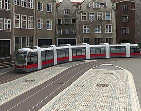 3D model Tram Low Poly