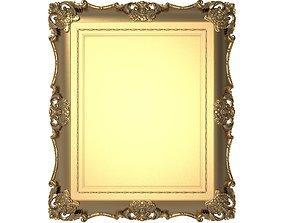 Carved Picture Frame 3D model gilt