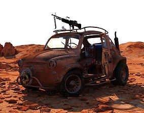 3D Fiat 600 Apocalypse