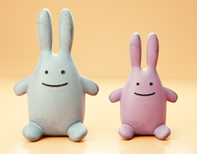 3D Rabbit plush