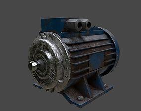 Electric motor 3D asset VR / AR ready