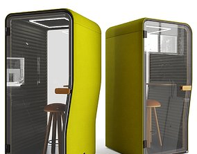 interior BuzziNest Booth by Buzzispace 3D model