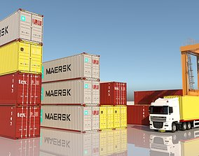 CONTAINER PORT COLLECTION 3D