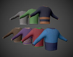 3D model Colored Sweaters