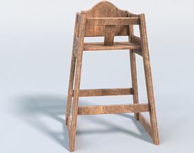 Childs Highchair 3D model
