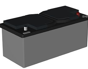 voltage 3D model CAR BATTERY