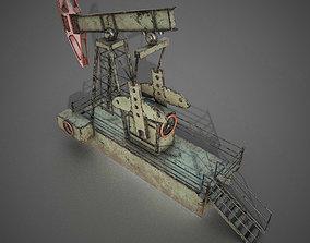 low-poly Oil Pump I PBR Model 3D model