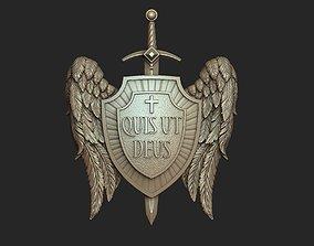 Archangel Michael Shield Pendant 3D printable model