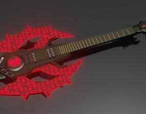 Doom Eternal Guitar for 3d print real work rock