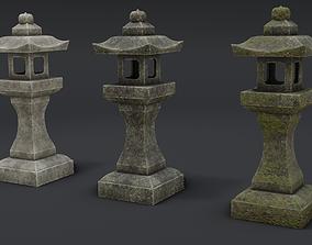 Japanese Stone Lanterns 3D model VR / AR ready