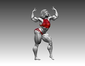 Bodybuilder girl in a beautiful pose 3D print 3D model