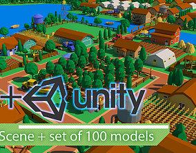 3D asset Pack 116 models for farm low poly