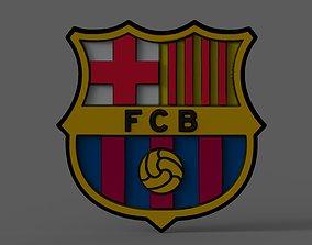 Fc Barcelona symbol 3D model