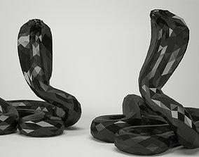 Snake Cobra Low-poly 3D model