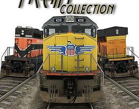 3D asset train collection 1