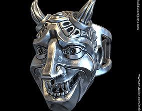 3D printable model Demon skull vol3 ring