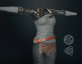 3D asset realtime Female Survivor Outfit