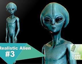 3D asset Realistic Alien 3