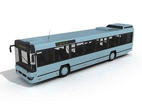 3D Blue City Bus