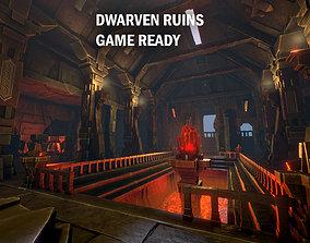 3D asset Dwarven ruins