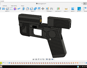 3D printable model Phone gun - self defense 9mm single 1
