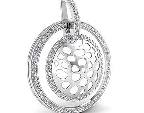 diamond pendant necklace 3D print model