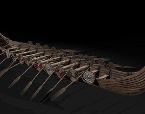 The Kvalsund vikings Ship 3D model VR / AR ready