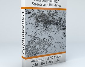 3D model Philadelphia Downtown Streets and Buildings